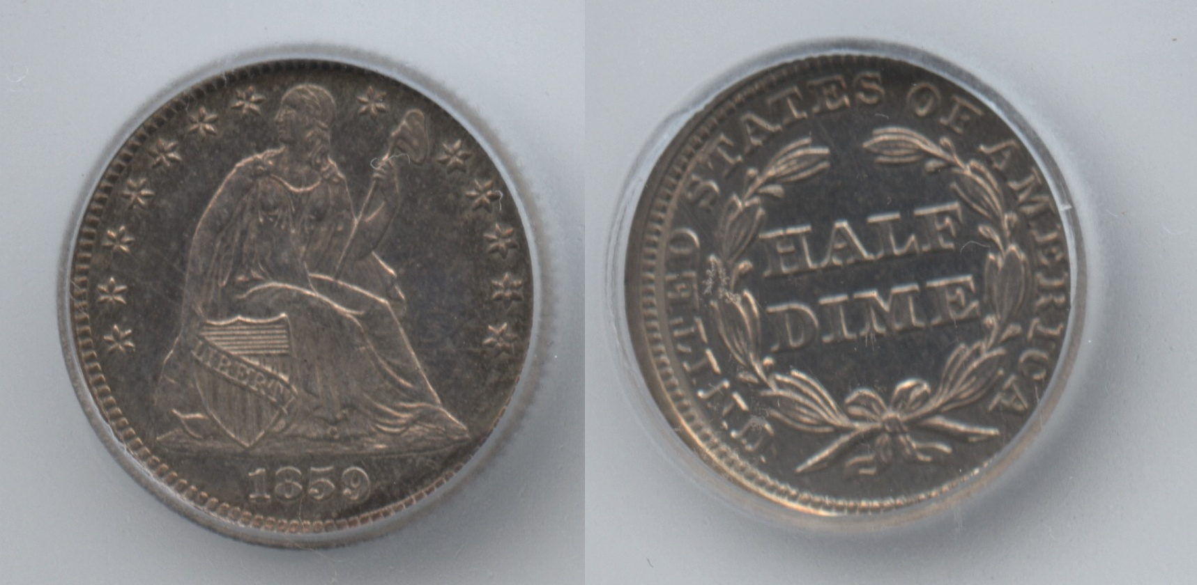 1859 Seated Liberty Half Dime ICG Proof-65