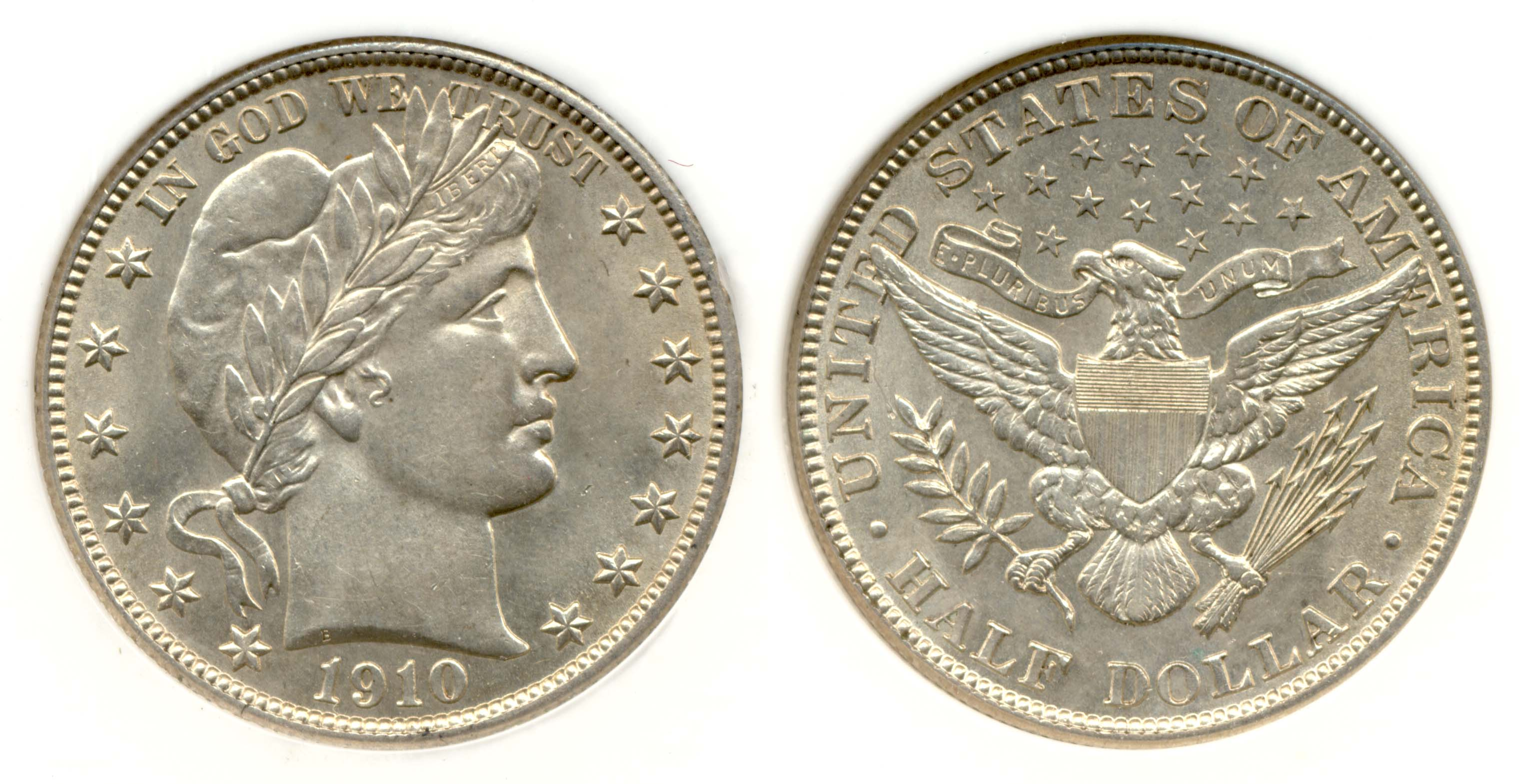 1910 Barber Half Dollar PCI MS-64