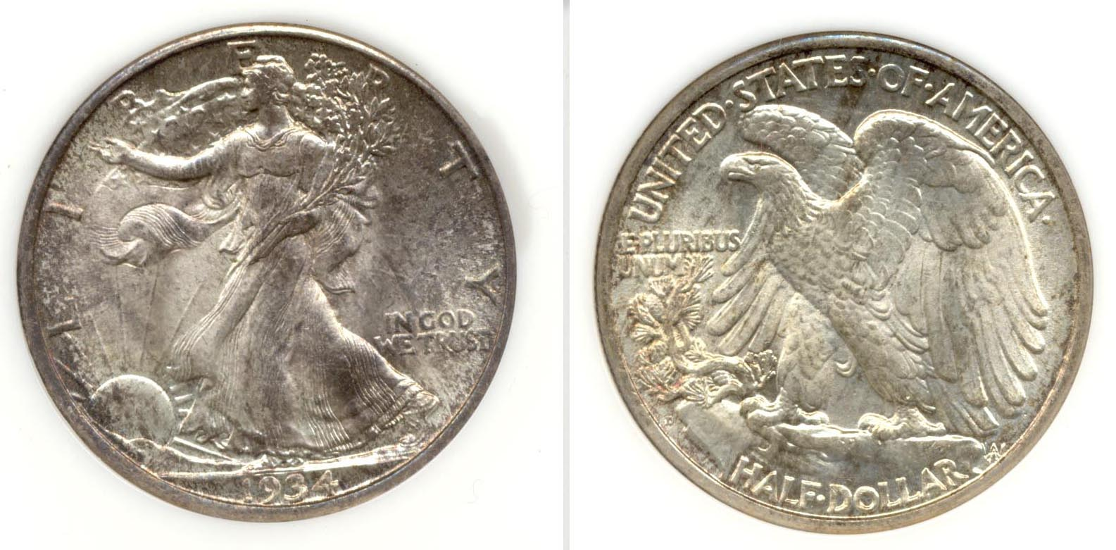 1934-D Walking Liberty Half Dollar NGC MS-65