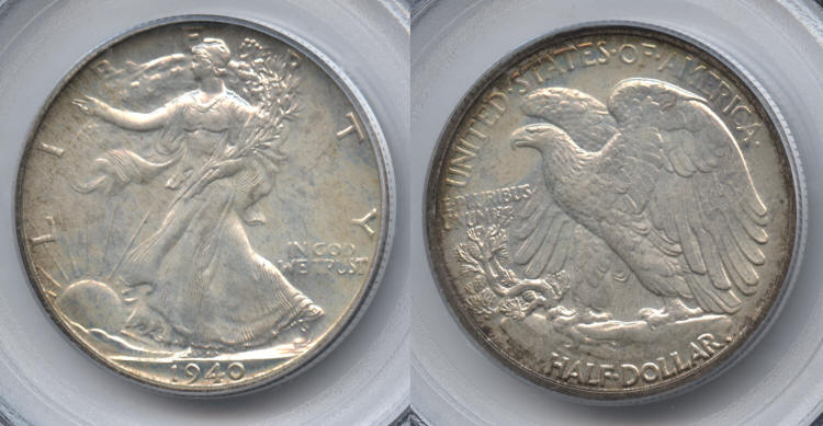 1940 Walking Liberty Half Dollar PCGS Proof-66 small
