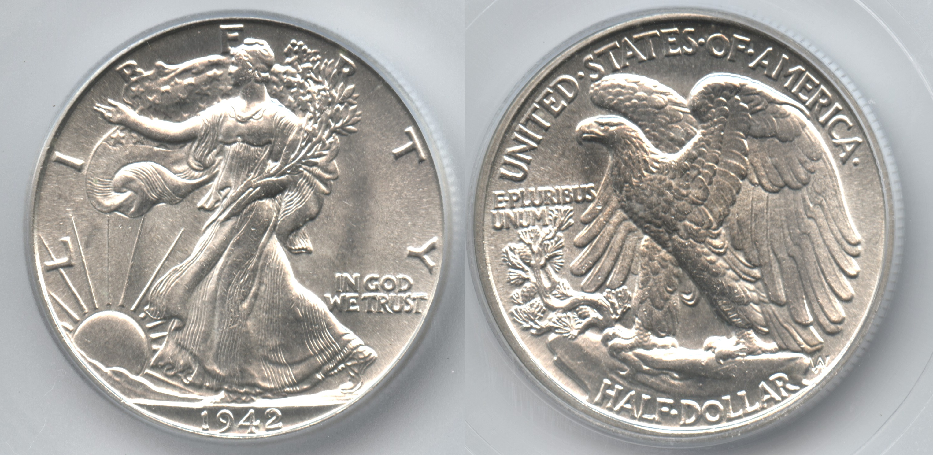 1942 Walking Liberty Half Dollar ICG MS-65
