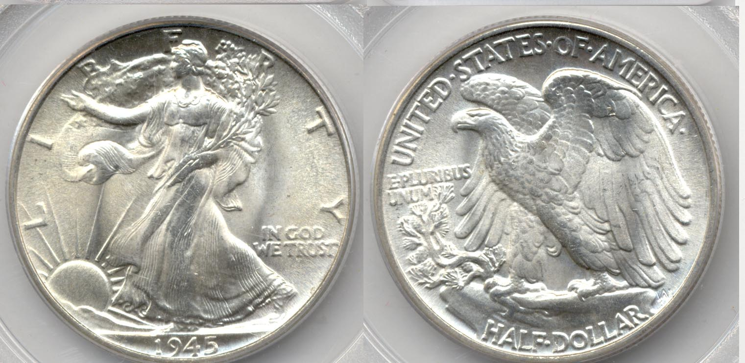 1945 Walking Liberty Half Dollar PCGS MS-65