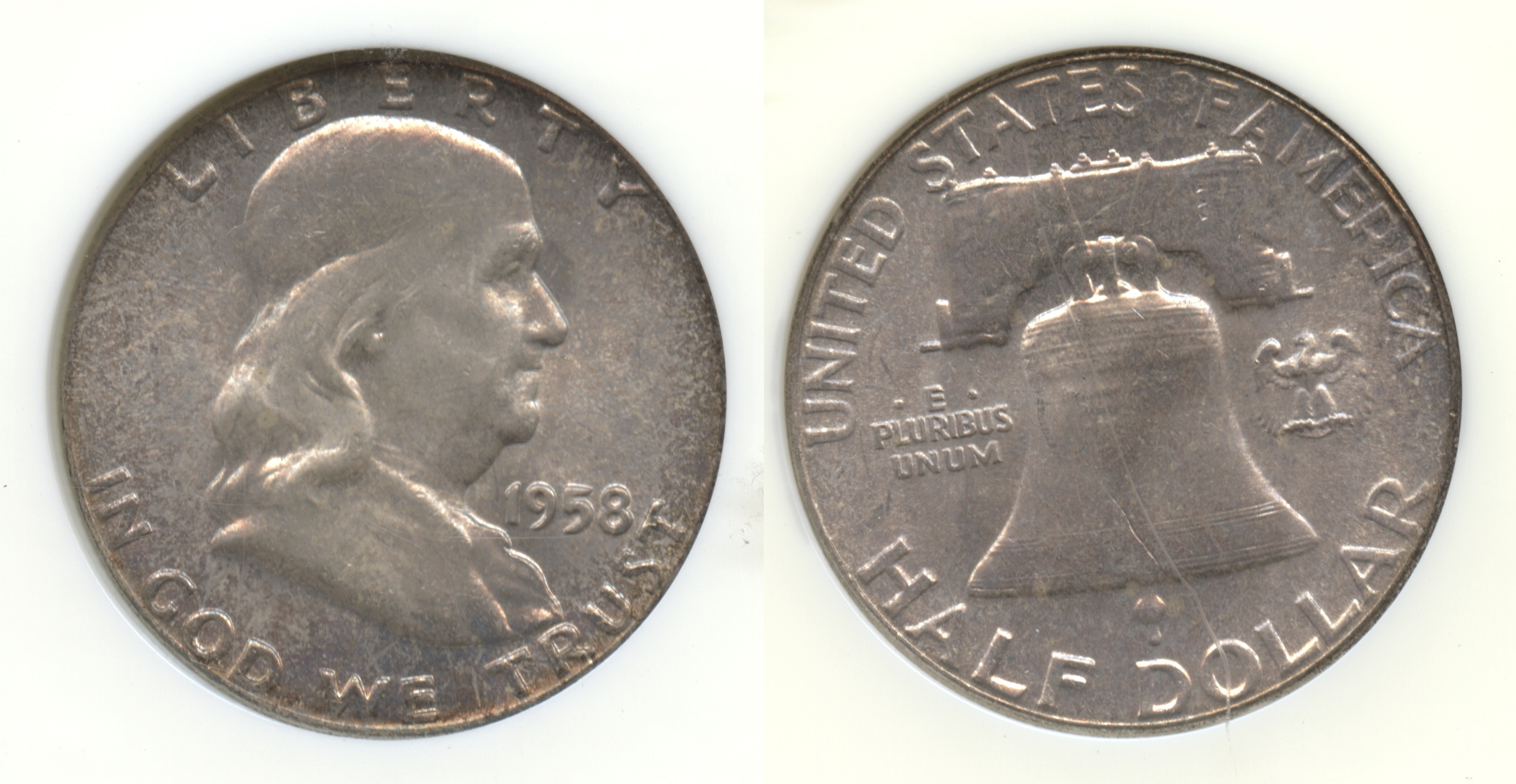 1958 Franklin Half Dollar NGC MS-66