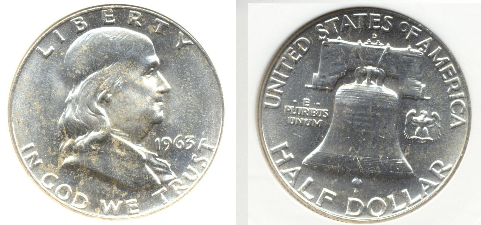 1963-D Franklin Half Dollar PCI MS-65
