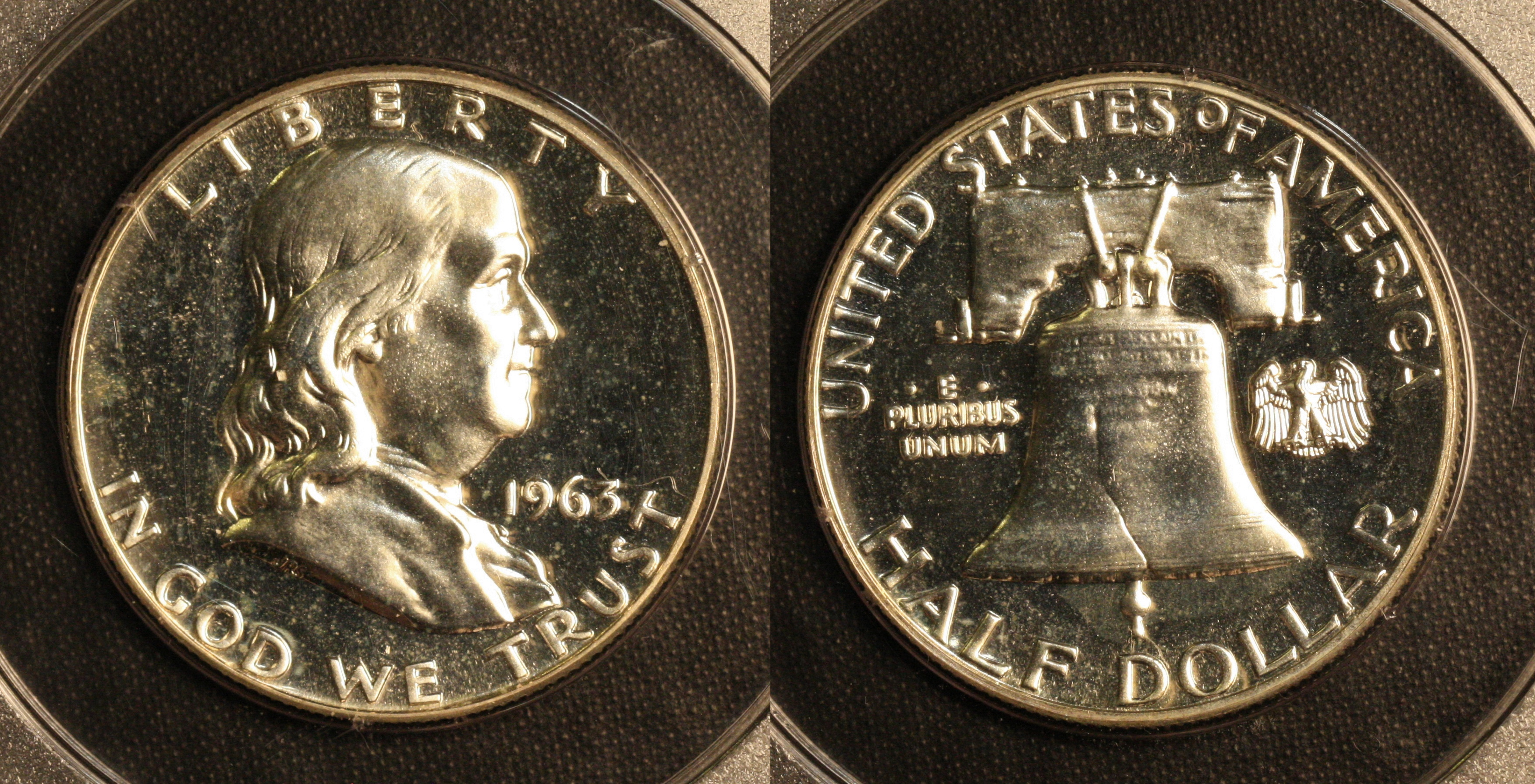 1963 Franklin Half Dollar PCGS Proof-65 camera