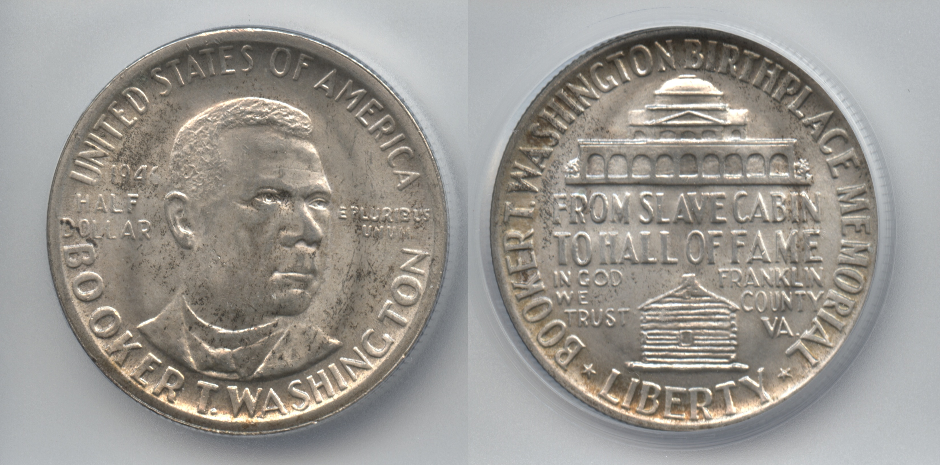 1946 Booker T Washington Commemorative Half Dollar ICG MS-65
