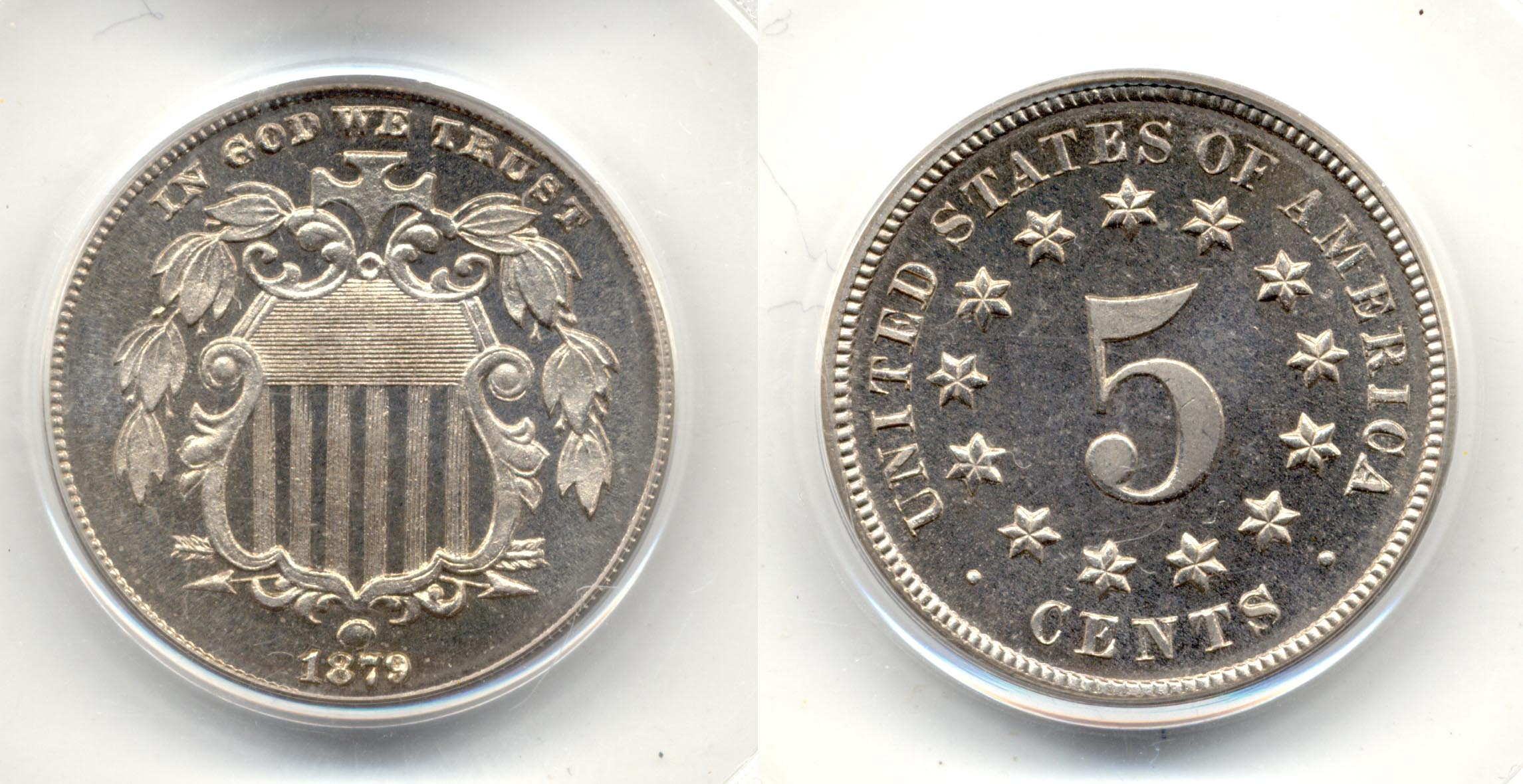 1879 Shield Nickel in PCGS Proof-66