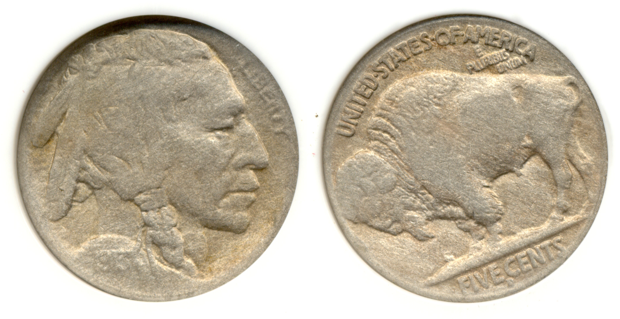 1913-D Type 2 Buffalo Nickel PCI F-12 Chemically Altered