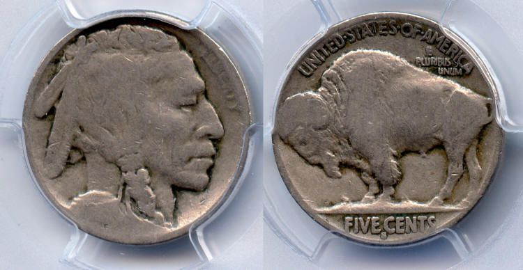 1913-S Type 2 Buffalo Nickel PCGS Good-4 small
