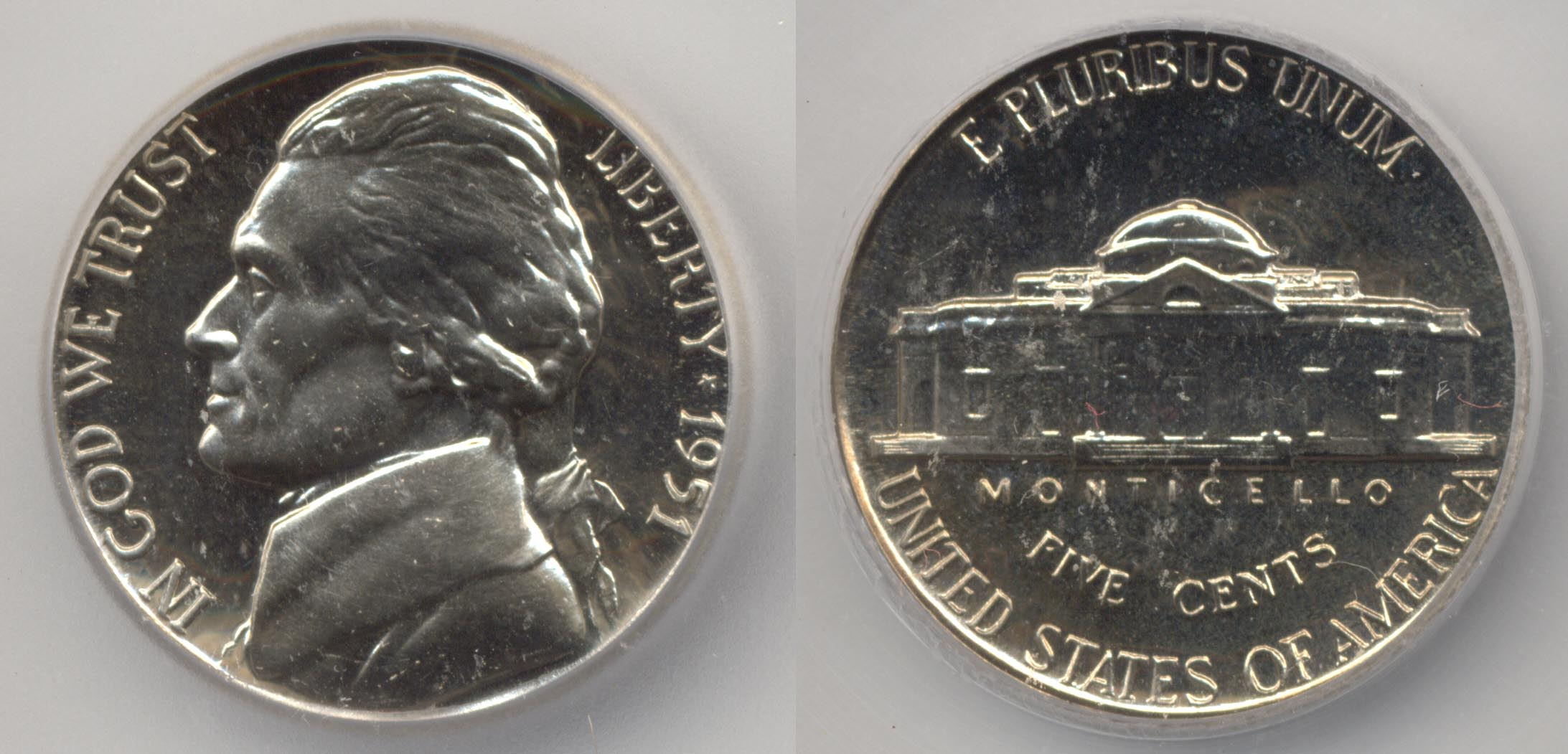 1951 Jefferson Nickel ICG Proof-68