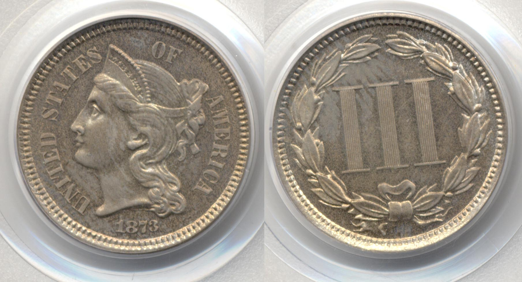 1873 Three Cent Nickel PCGS Proof-64