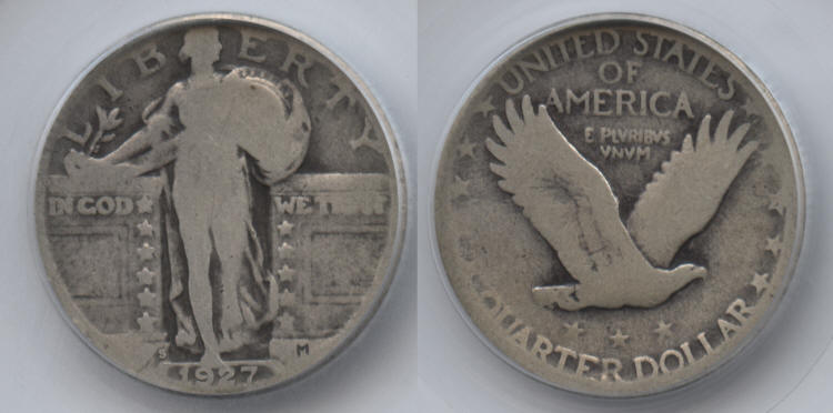 1927-S Standing Liberty Quarter SEGS Good-4 #a small