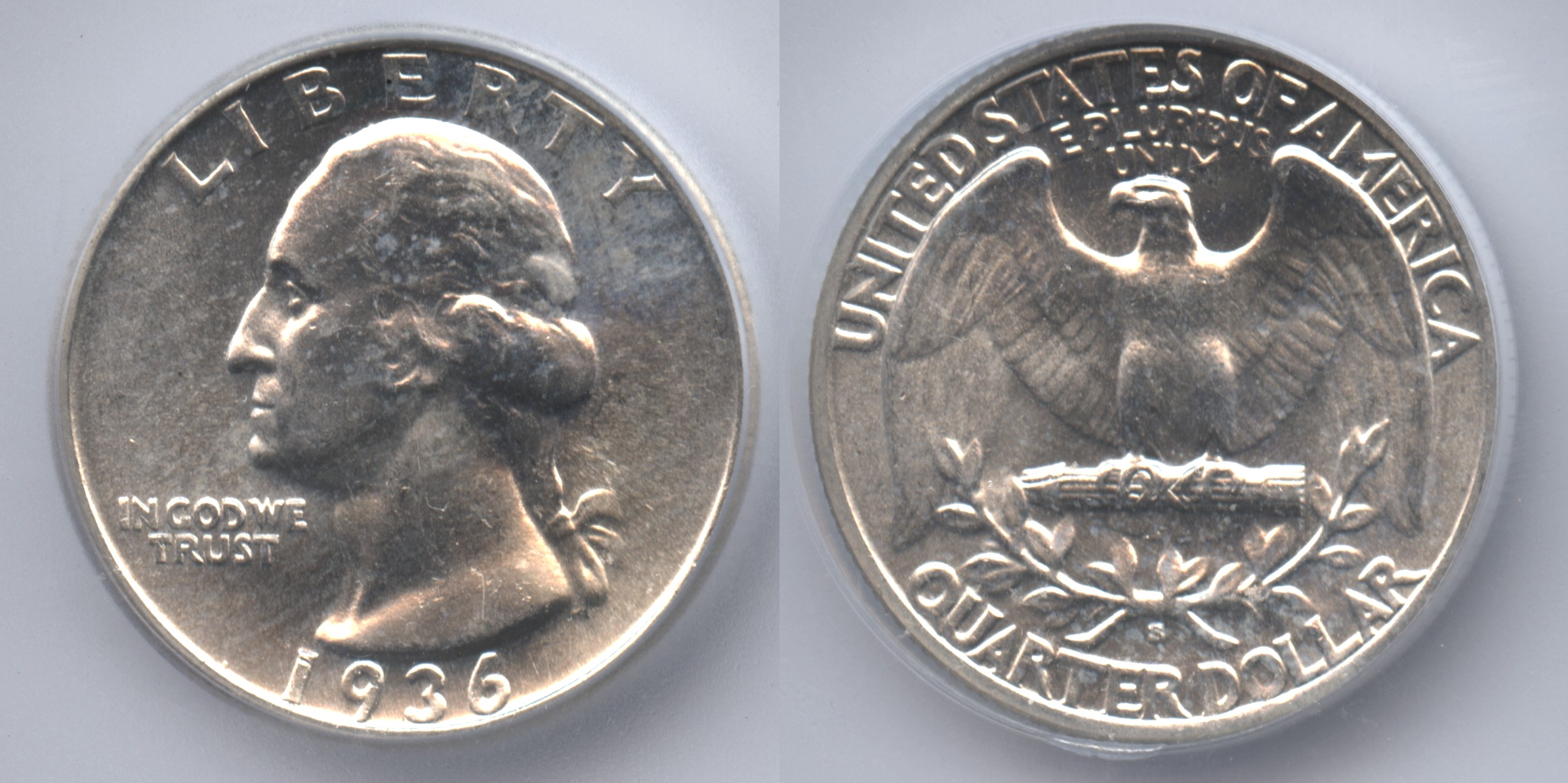 1936-S Washington Quarter ICG MS-65