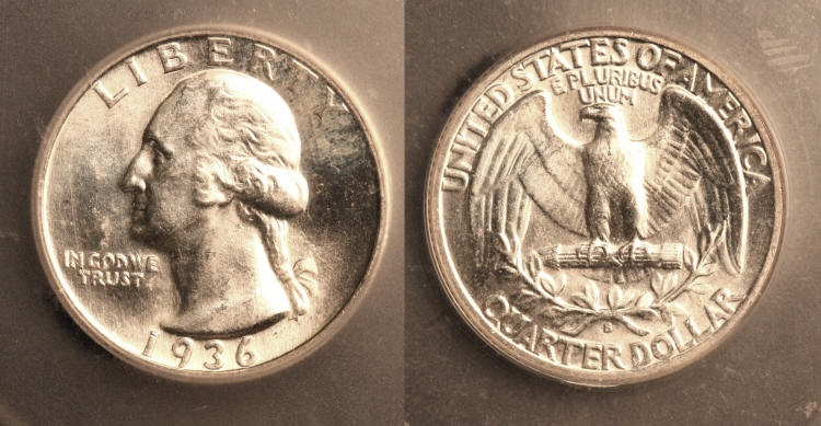 1936-S Washington Quarter ICG MS-65 camera small