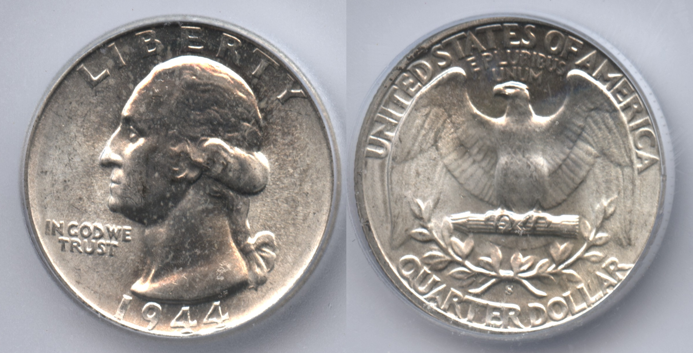 1944-S Washington Quarter ICG MS-66