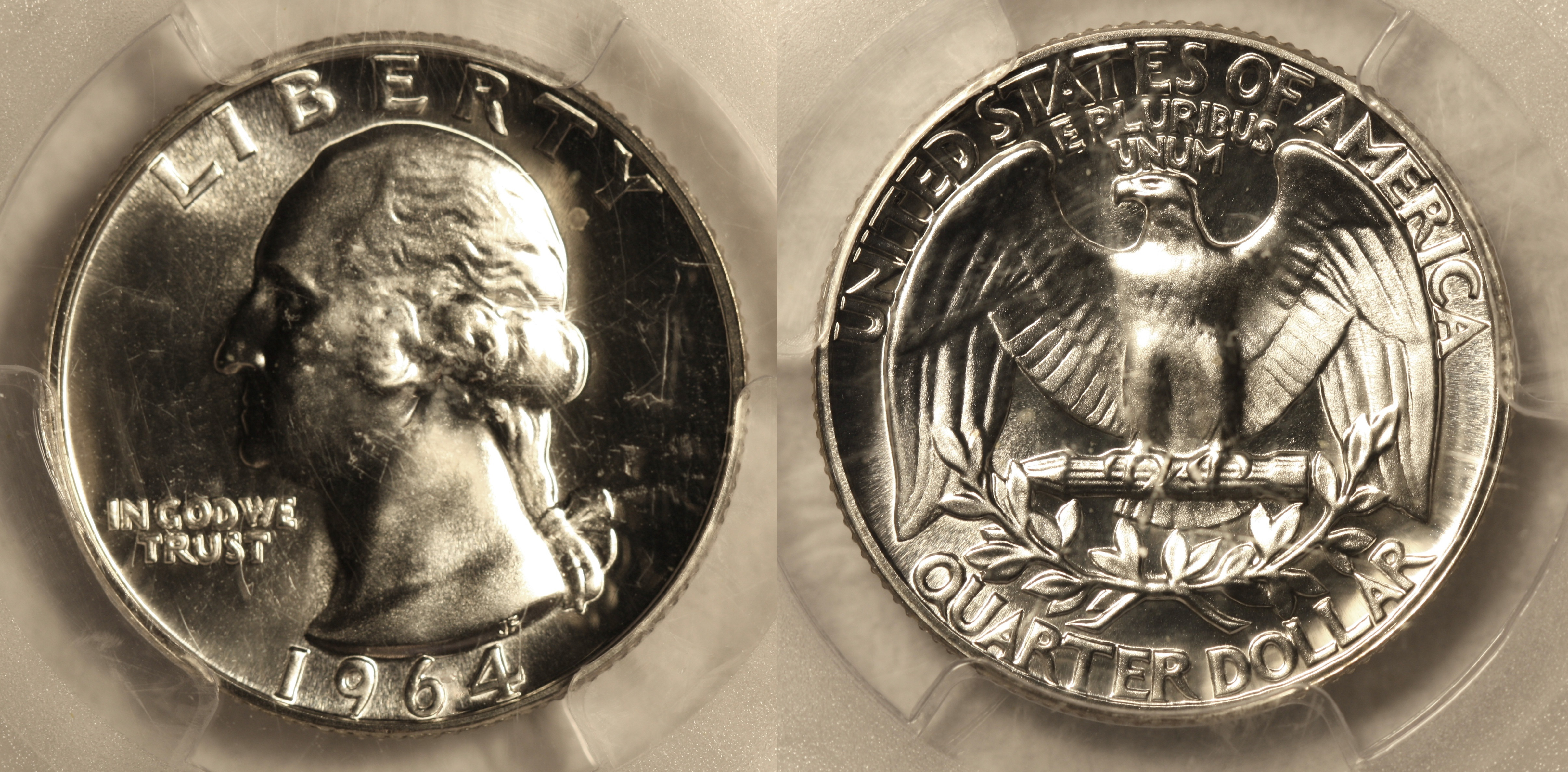 1964 Washington Quarter PCGS Proof-66 camera