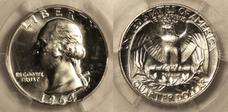 1964 Washington Quarter PCGS Proof-66 camera small