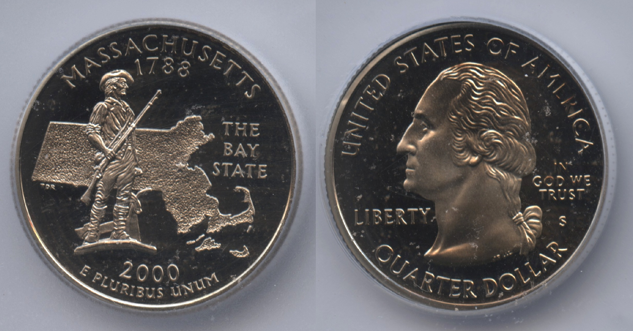 2000-S Massachusetts State Quarter ICG Deep Cameo Proof-69