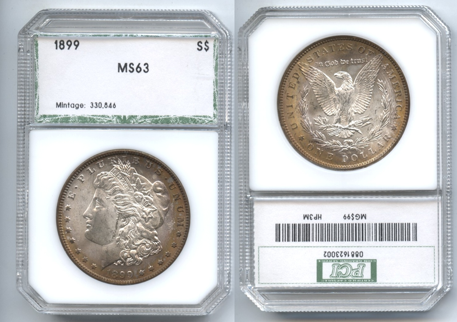 1899 Morgan Silver Dollar PCI MS-63