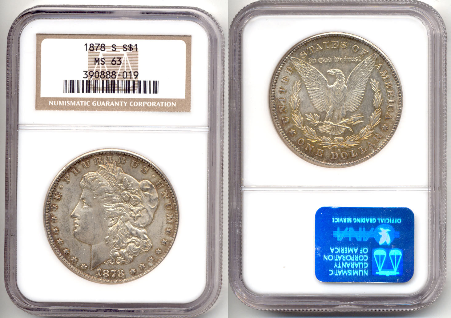 1878-S Morgan Silver Dollar NGC MS-63