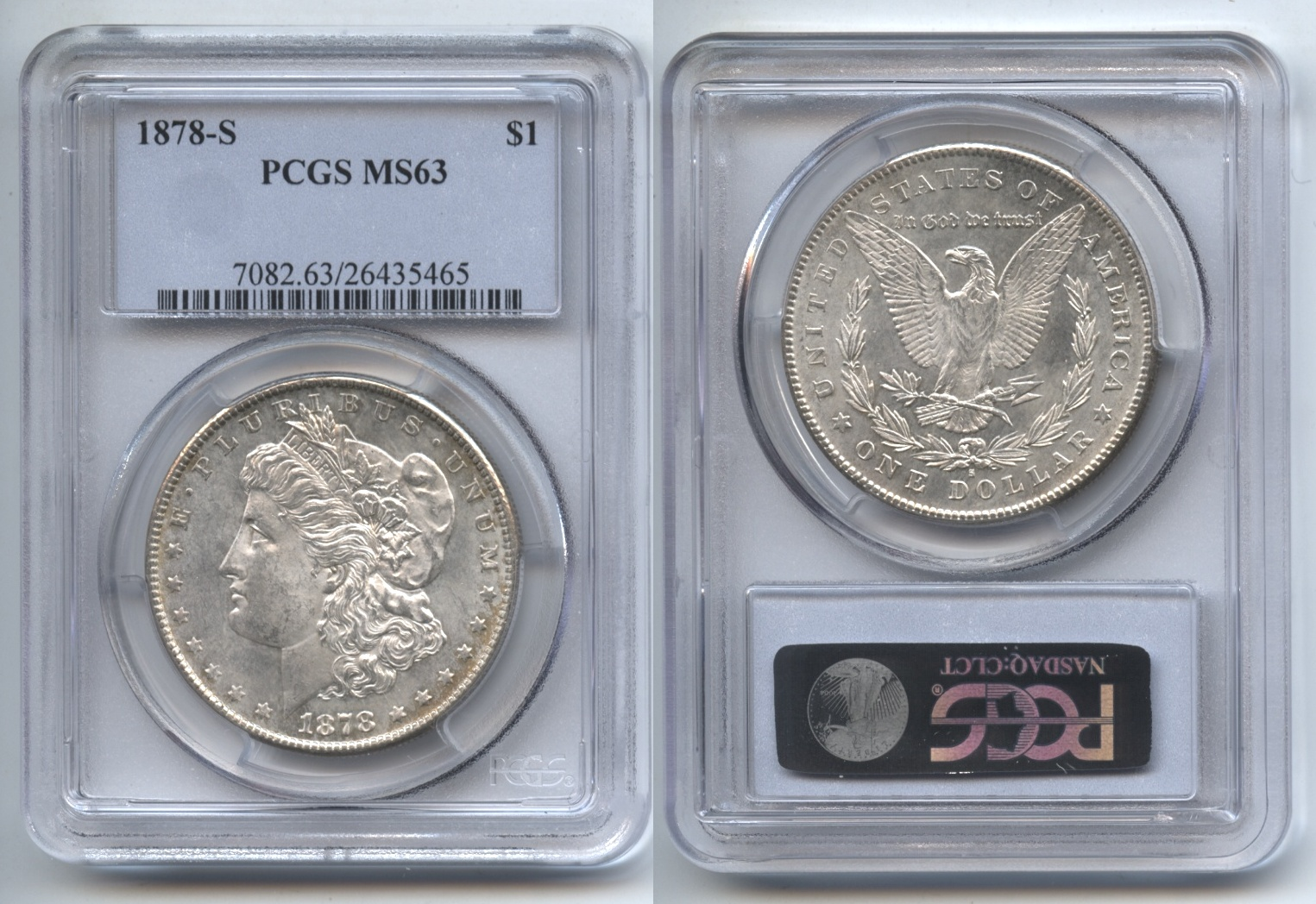 1878-S Morgan Silver Dollar PCGS MS-63
