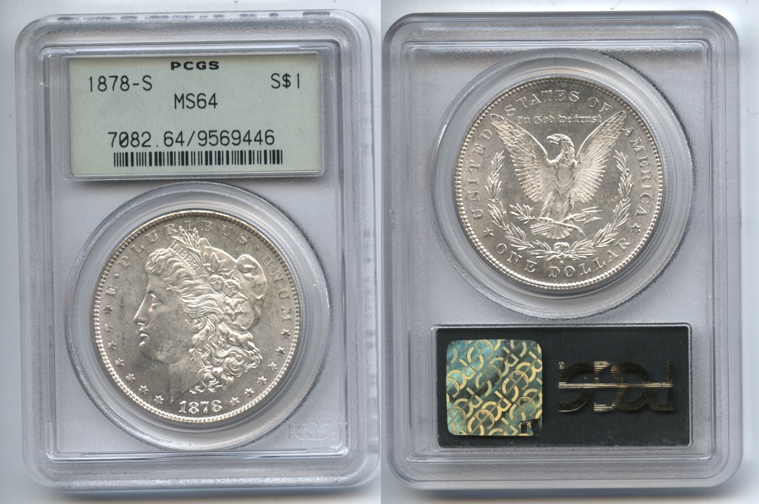 1878-S Morgan Silver Dollar PCGS MS-64
