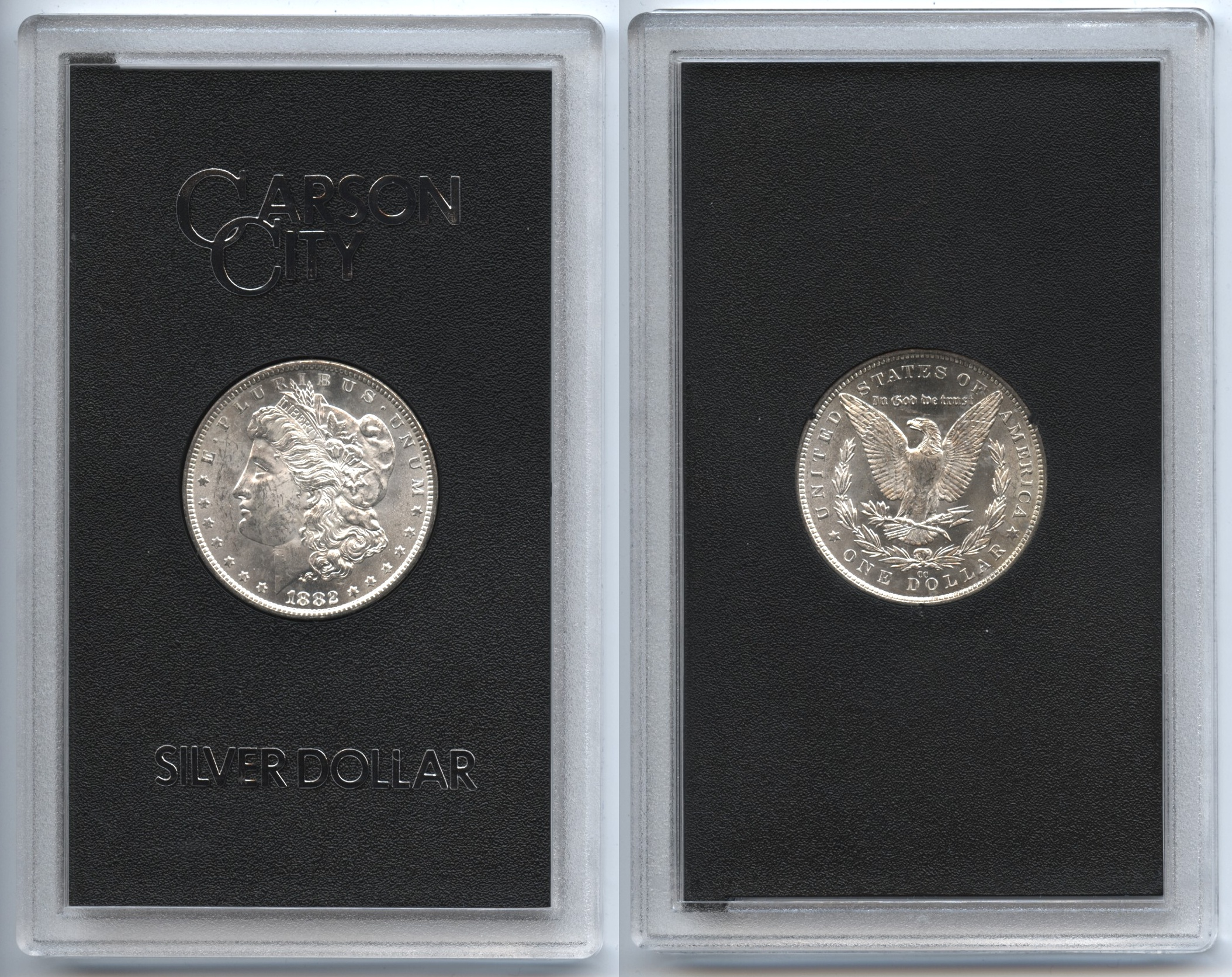 1882-CC Morgan Silver Dollar GSA Holder MS-60 b