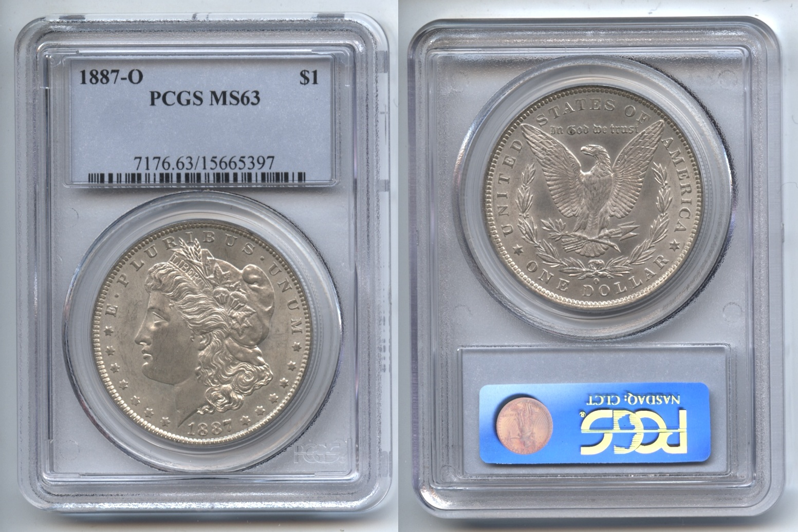 1887-O Morgan Silver Dollar PCGS MS-63