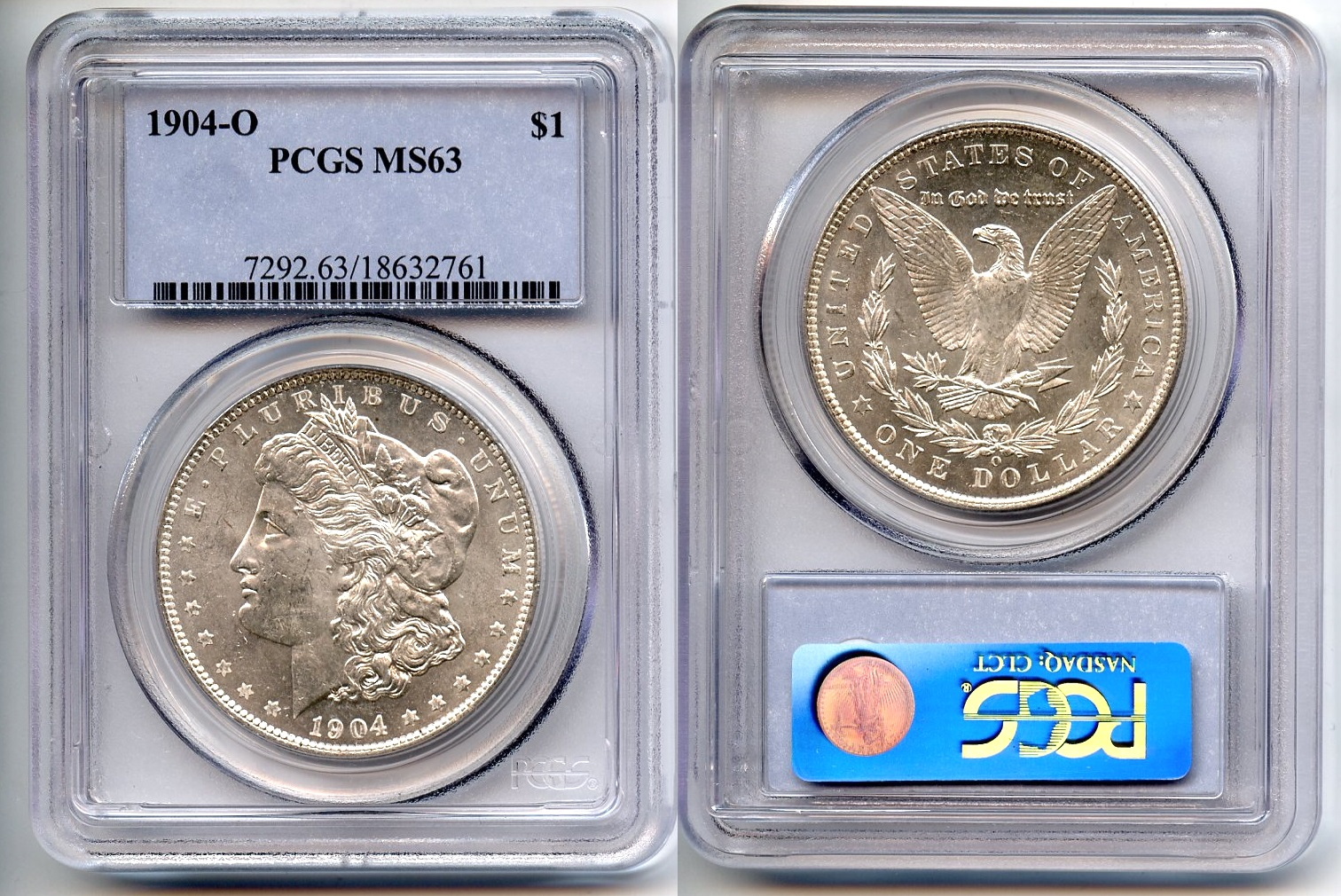 1904-O Morgan Silver Dollar PCGS MS-63 #a
