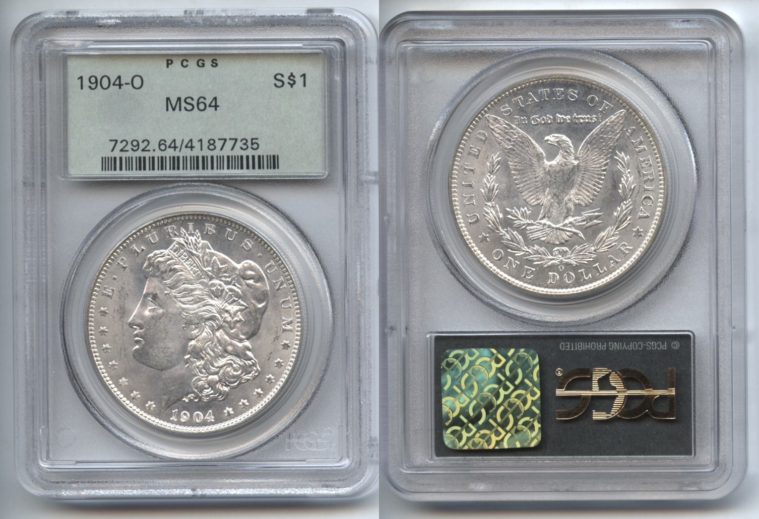 1904-O Morgan Silver Dollar PCGS MS-64 VAM-21 Doubled 0 and Profile, High O