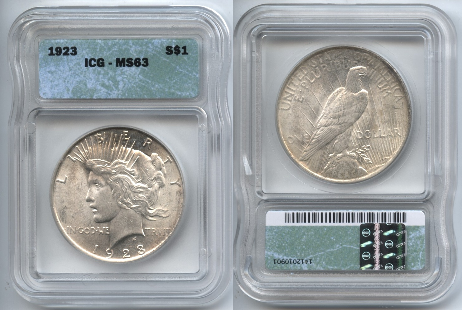 1923 Peace Silver Dollar ICG MS-63