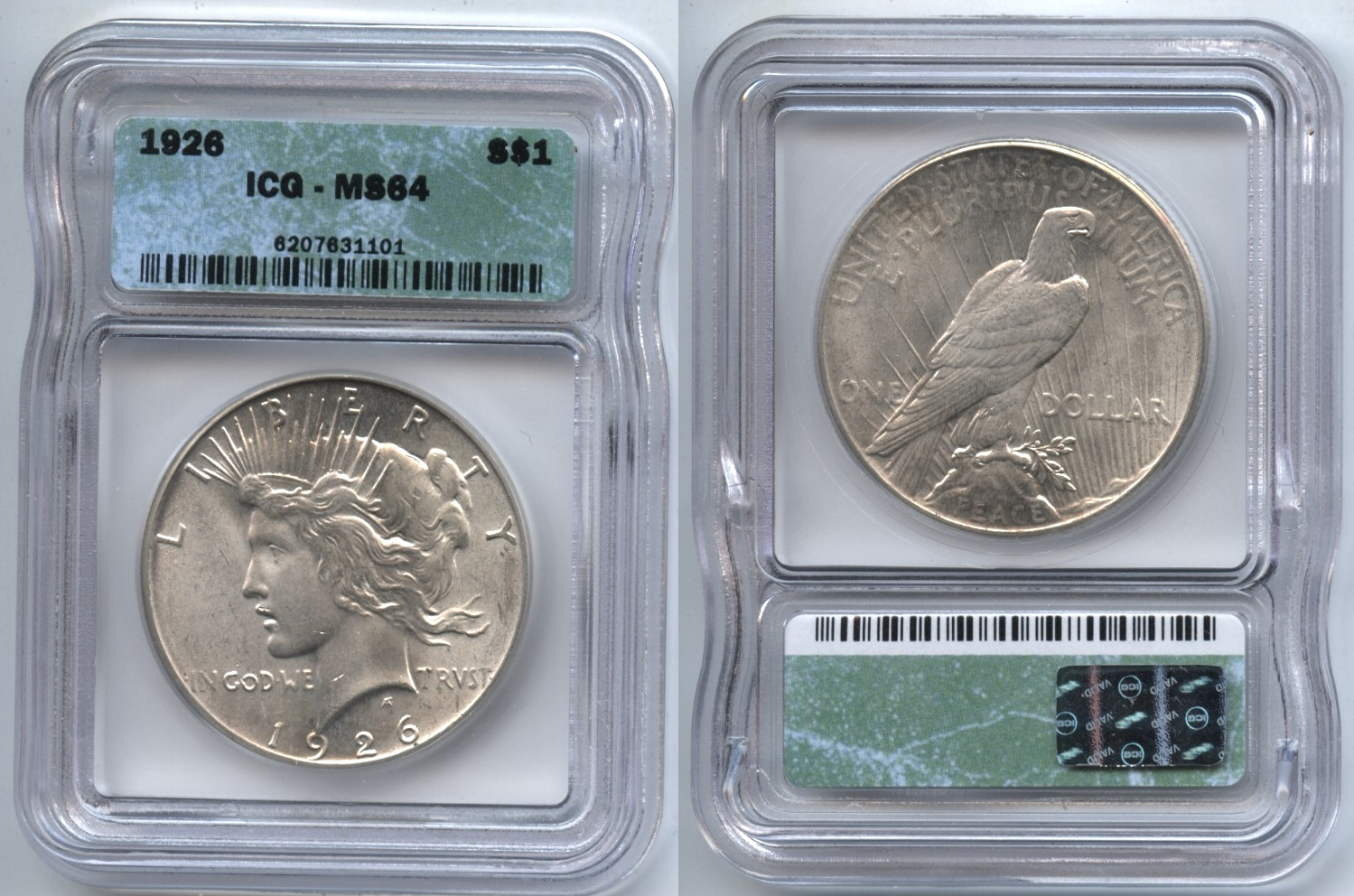 1926 Peace Silver Dollar ICG MS-64