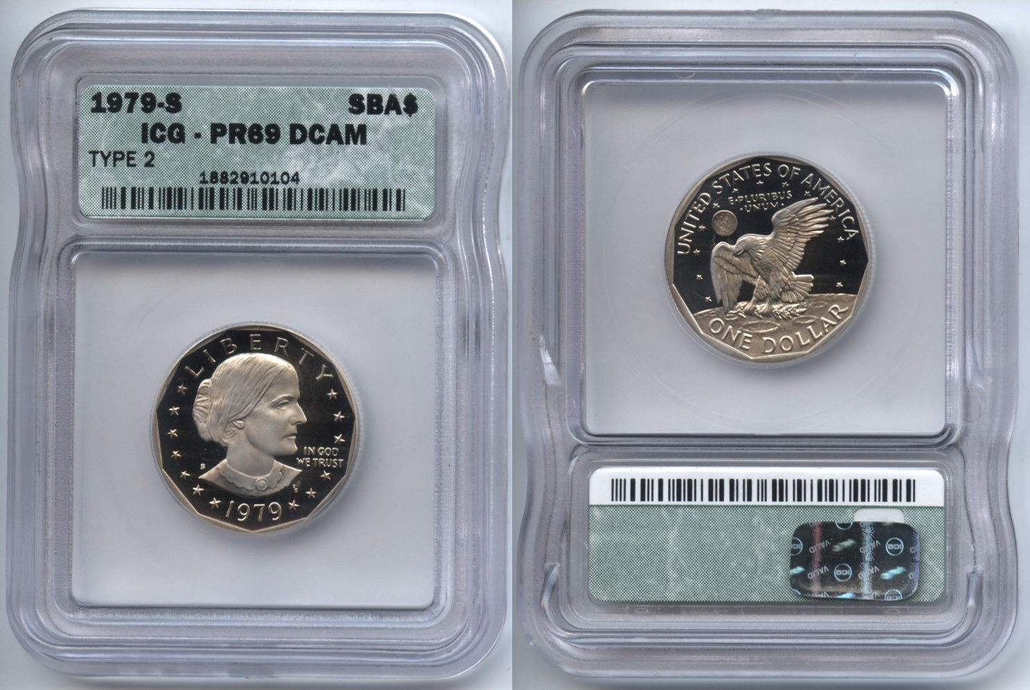 1979-S Type 2 Susan Anthony Silver Dollar ICG Proof-69 Deep Cameo