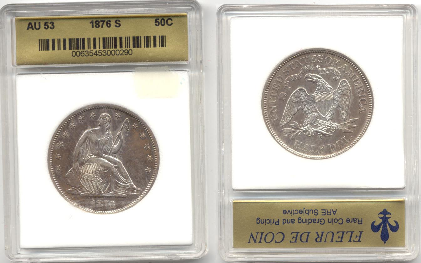 1876-S Seated Liberty Half Dollar FDC AU-53