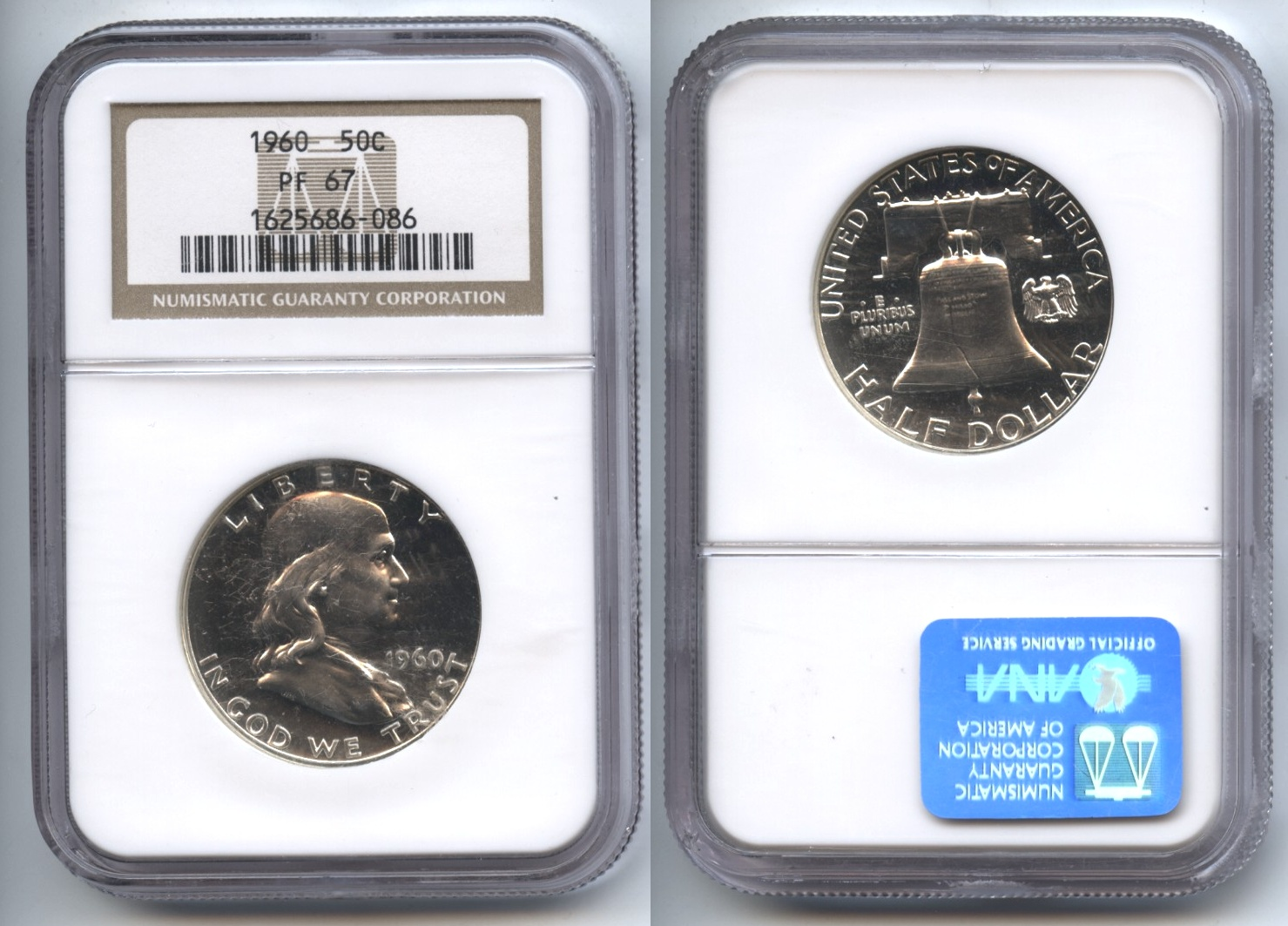 1960 Franklin Half Dollar NGC Proof-67 #i