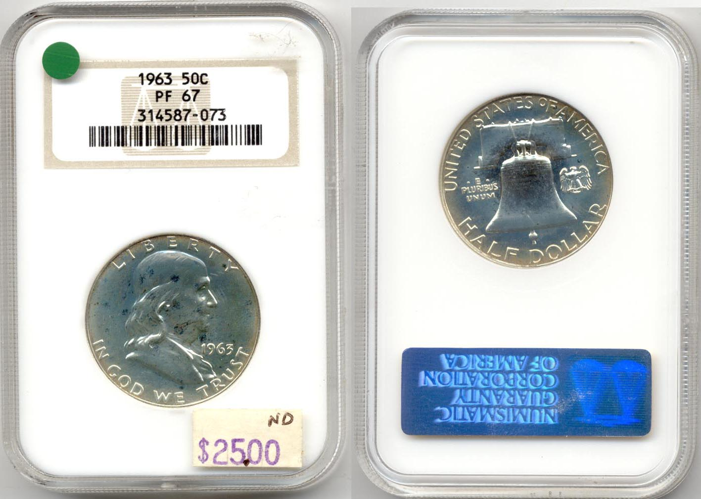 1963 Franklin Half Dollar NGC Proof-67