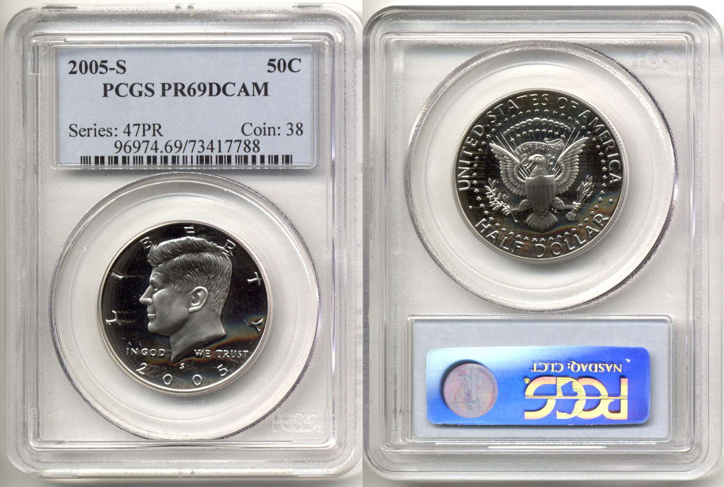 2005-S Clad Kennedy Half Dollar PCGS Proof-69 Deep Cameo a