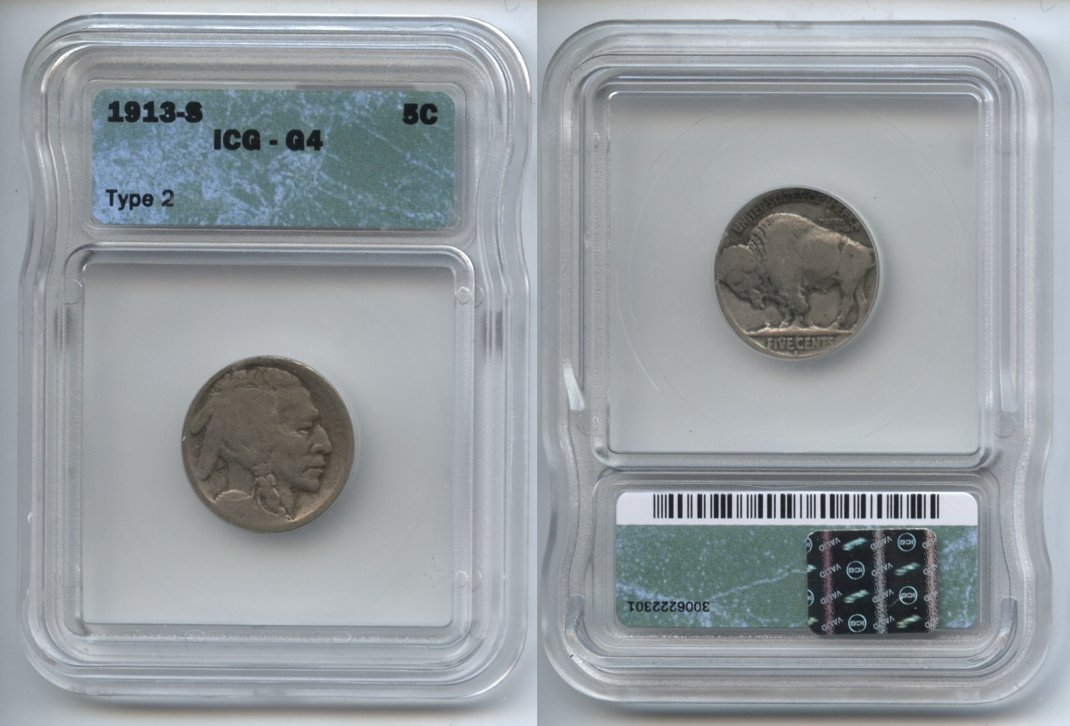 1913-S Type 2 Buffalo Nickel ICG Good-4