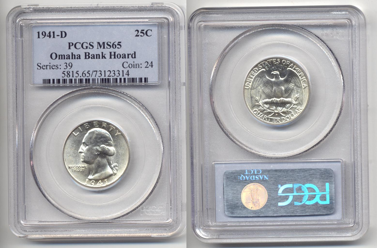 1941-D Washington Quarter PCGS MS-65