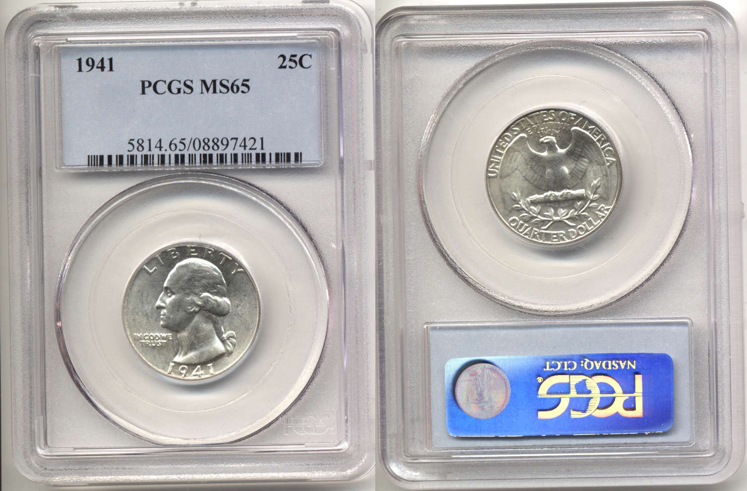 1941 Washington Quarter PCGS MS-65 a