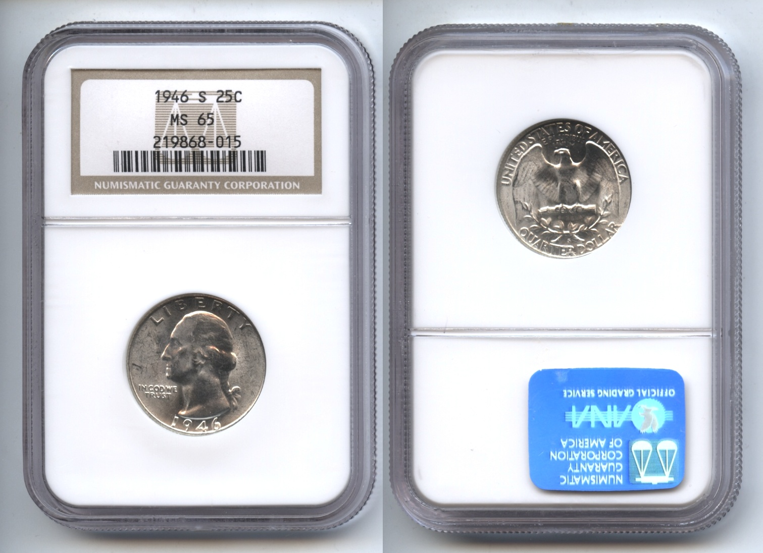 1946-S Washington Quarter NGC MS-65 #a