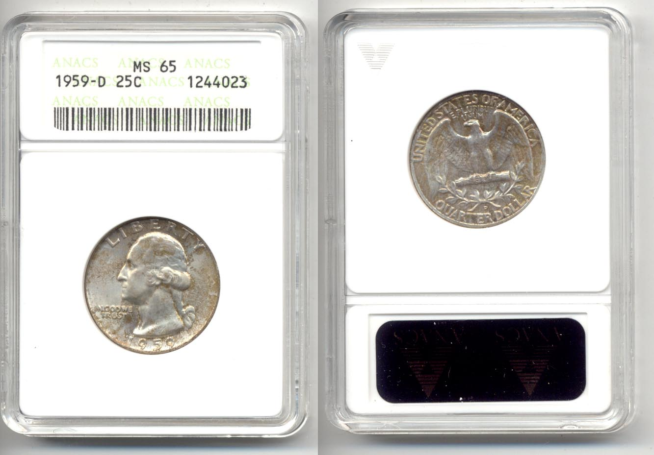 1959-D Washington Quarter ANACS MS-65