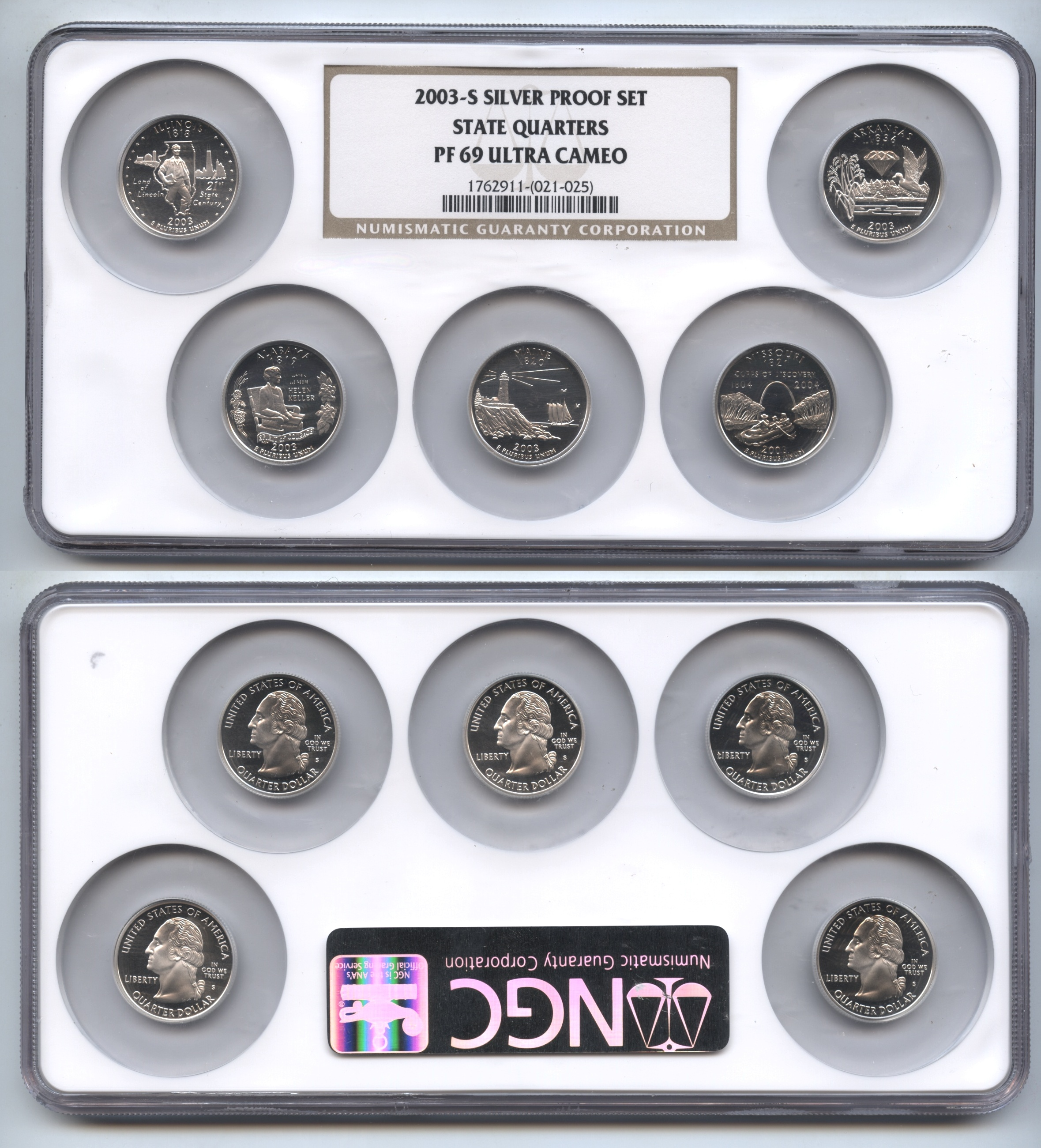 2003-S Silver Proof Set NGC Proof-69 Ultra Cameo