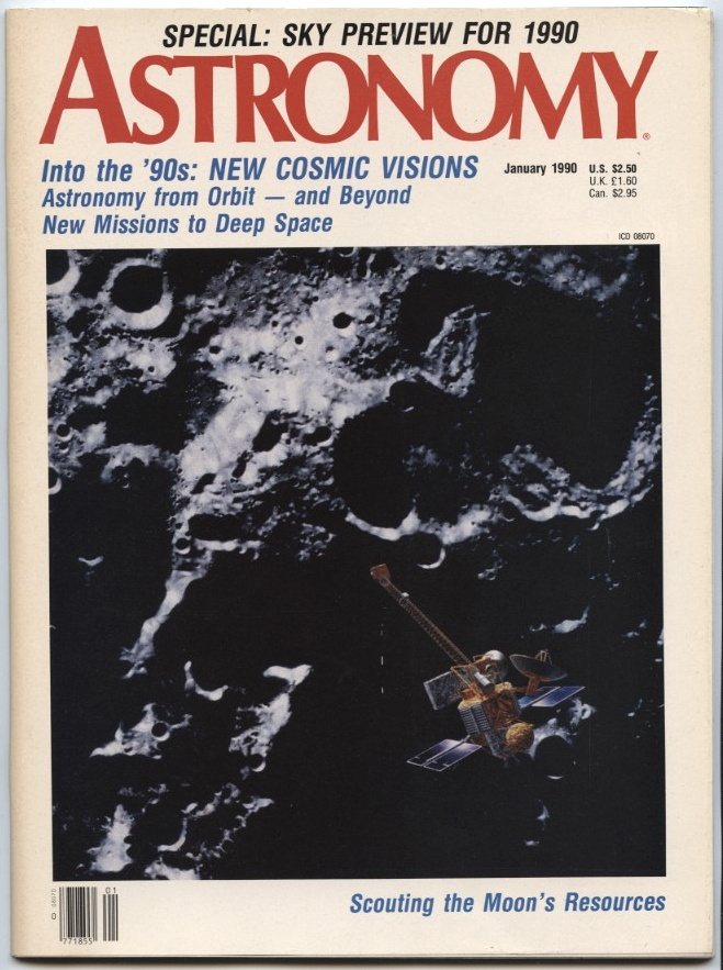Astronomy Magazine January 1990