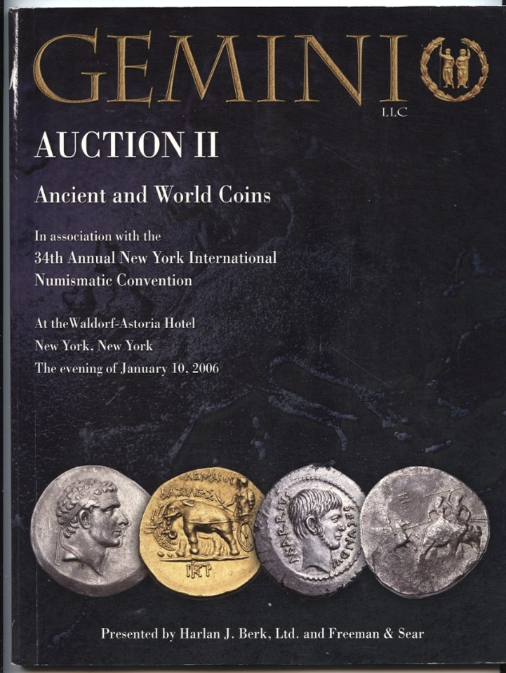 Harlan J Berk Gemini Auction II Ancient And World Coins January 10 2006