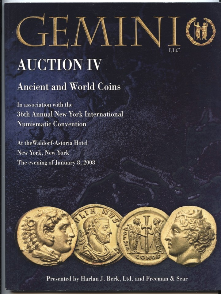 Harlan J Berk Gemini Auction IV Ancient And World Coins January 8 2008