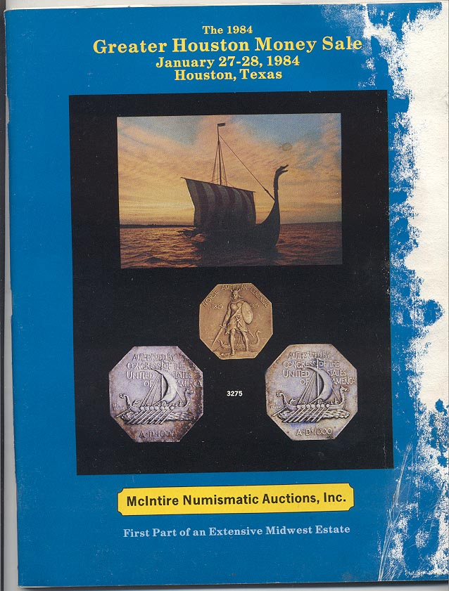McIntire Numismatic Auctions Greater Houston Money Sale January 1984
