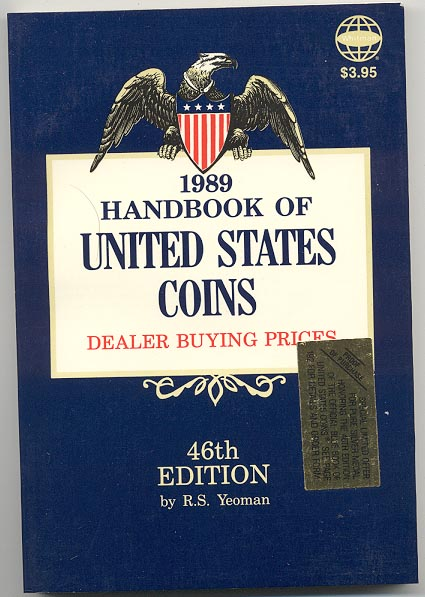 Handbook of United States Coins Bluebook 1989 46th Edition By R S Yeoman