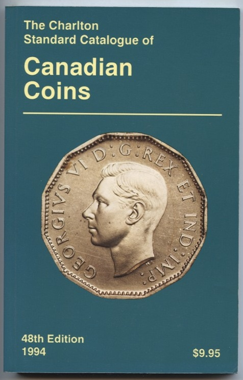 1994 Charlton Standard Catalogue of Canadian Coins 48th Edition