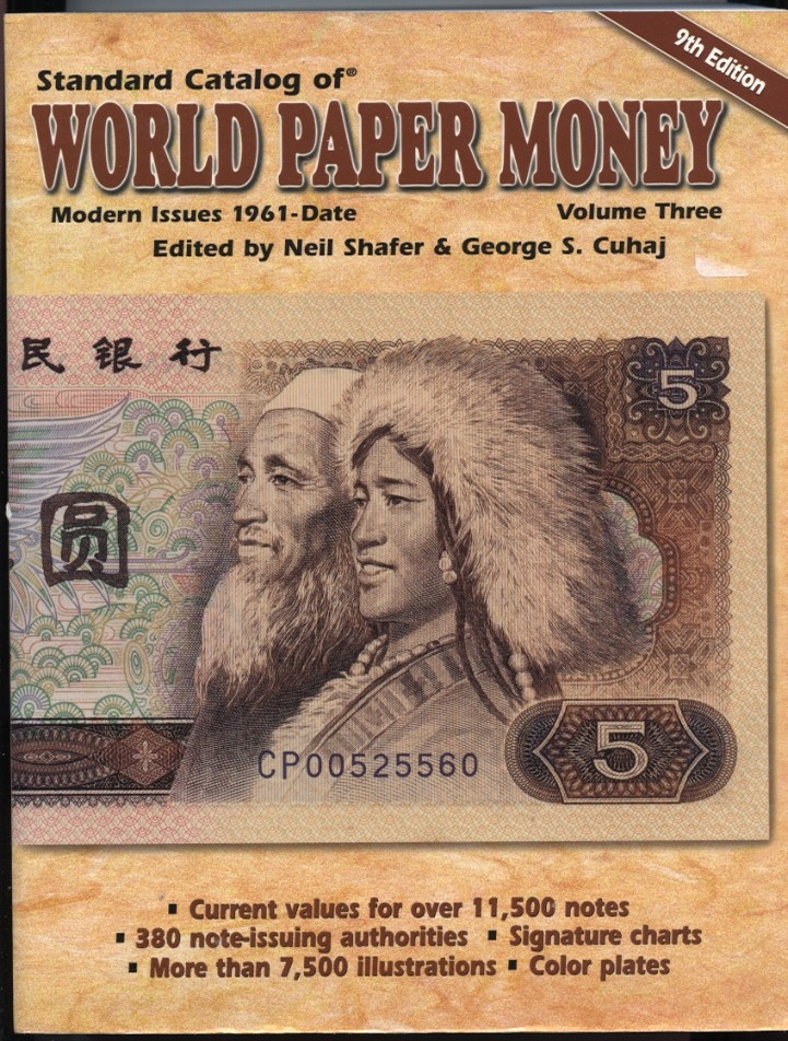 Standard Catalog of World Paper Money Volume 3 9th Edition by Neil Shafer